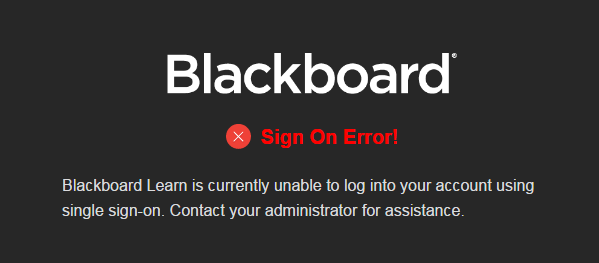 Common Issues with SAML Authentication | Blackboard Help