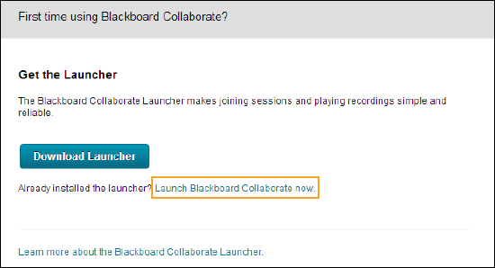 Blackboard Collaborate Launcher | Blackboard Help