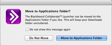 Move to Applications folder? dialog