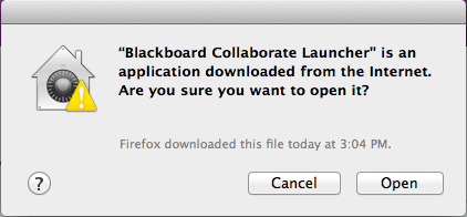 Mac warning re. opening launcher