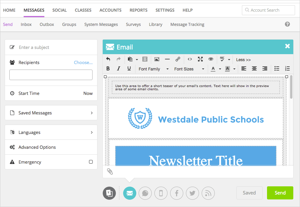 create and send newsletters blackboard help