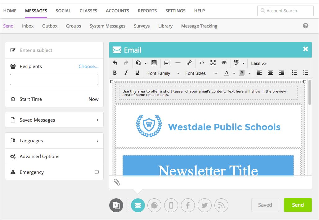 Image illustrating a school newsletter