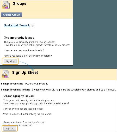 Groups | Blackboard Help