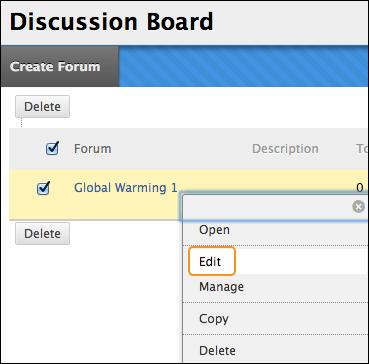discussion board