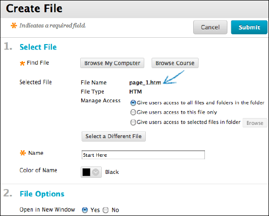 Add Files to Course Files | Blackboard Help