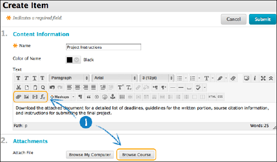 Link to Files and Folders in Course Files | Blackboard Help
