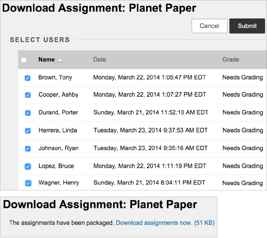 Download Assignments | Blackboard Help