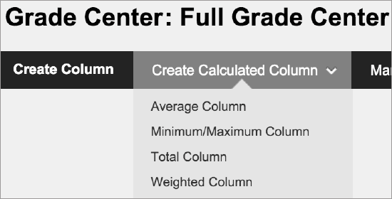 calculate grades blackboard help
