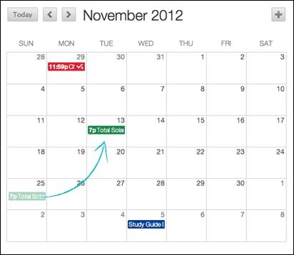 Calendar add/delete
