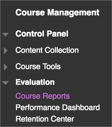 Course Reports | Blackboard Help