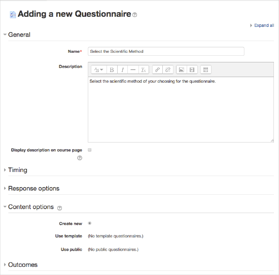 how to create questionnaire in google