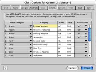 attendance category blackboard help