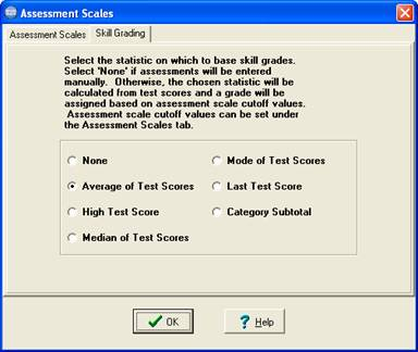 Choose how tests are used to assess skills