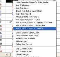 Delete the selected test from the right-click drop down menu