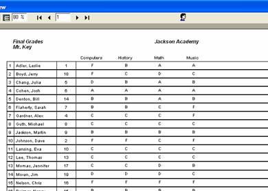 printing a spreadsheet report blackboard help
