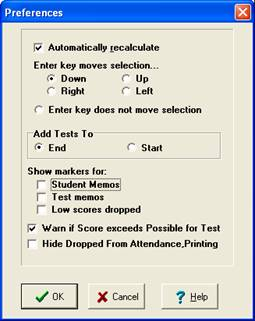 Check to warn if scores exceed possible