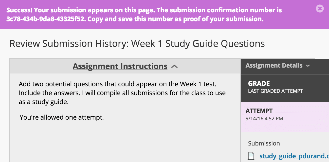 Student Questions About Assignments in Learn | Blackboard Help