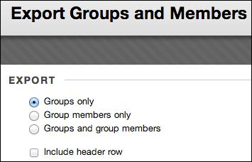 Import and Export Groups | Blackboard Help