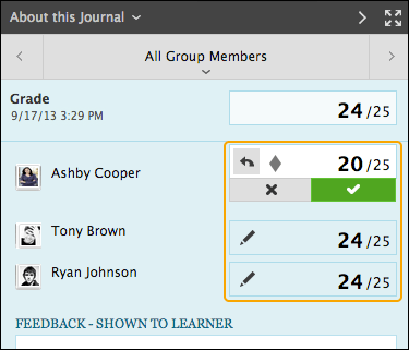 Grading a Journal | Blackboard Learn | Faculty Guides and ...