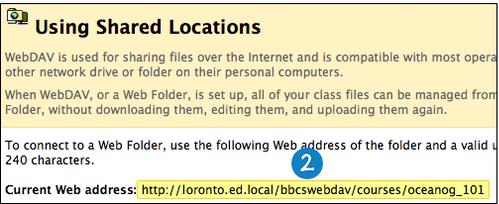 Web Folders and Shared Locations   Blackboard Help