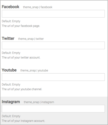 Add social media links