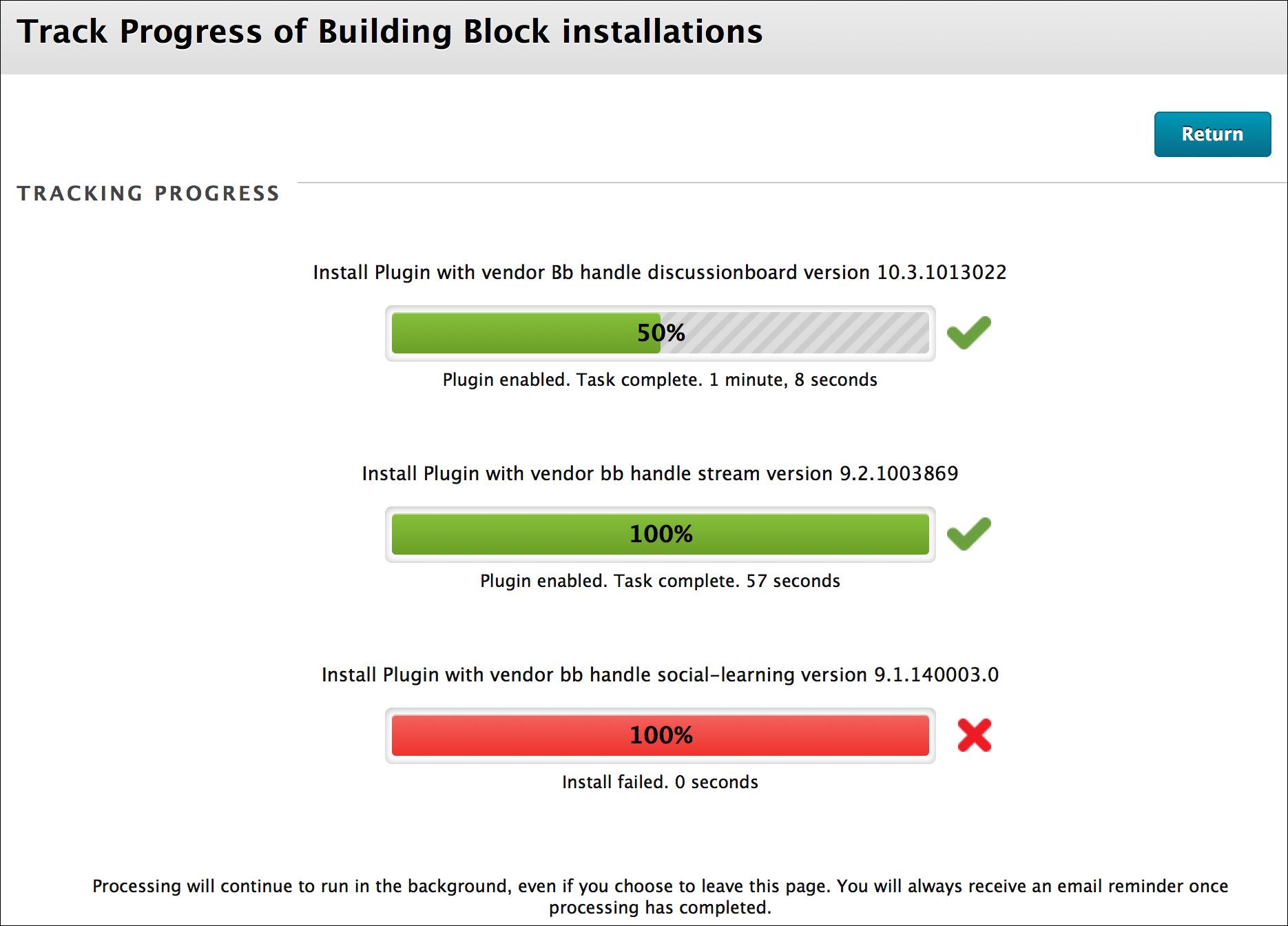 progress tracker blackboard help