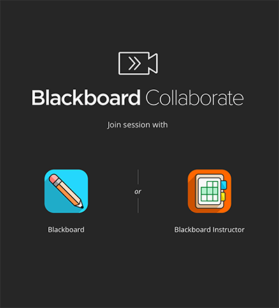 screenshot of selecting a Blackboard app