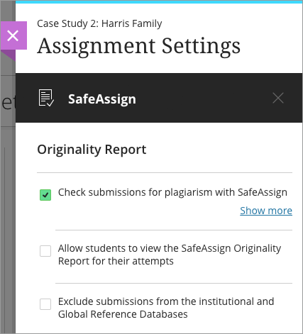 use safeassign in assignments blackboard help ultra use safeassign in your assignments