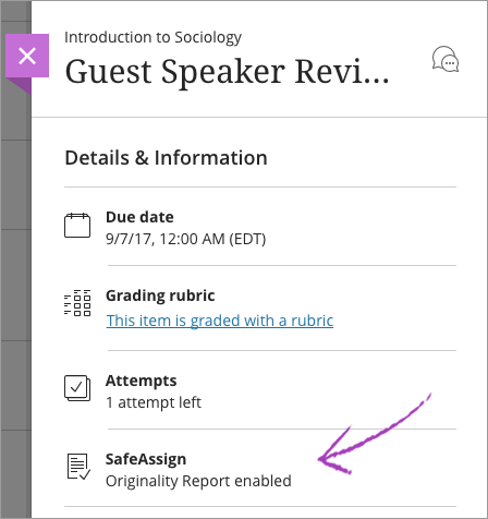assignments and safeassign blackboard help in the ultra course view instructors can use the safeassign service to check submitted assignments and tests for originality