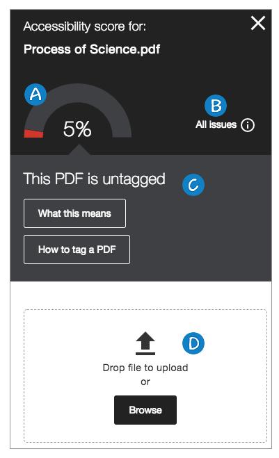 The feedback panel