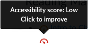 Accessibility Score indicator
