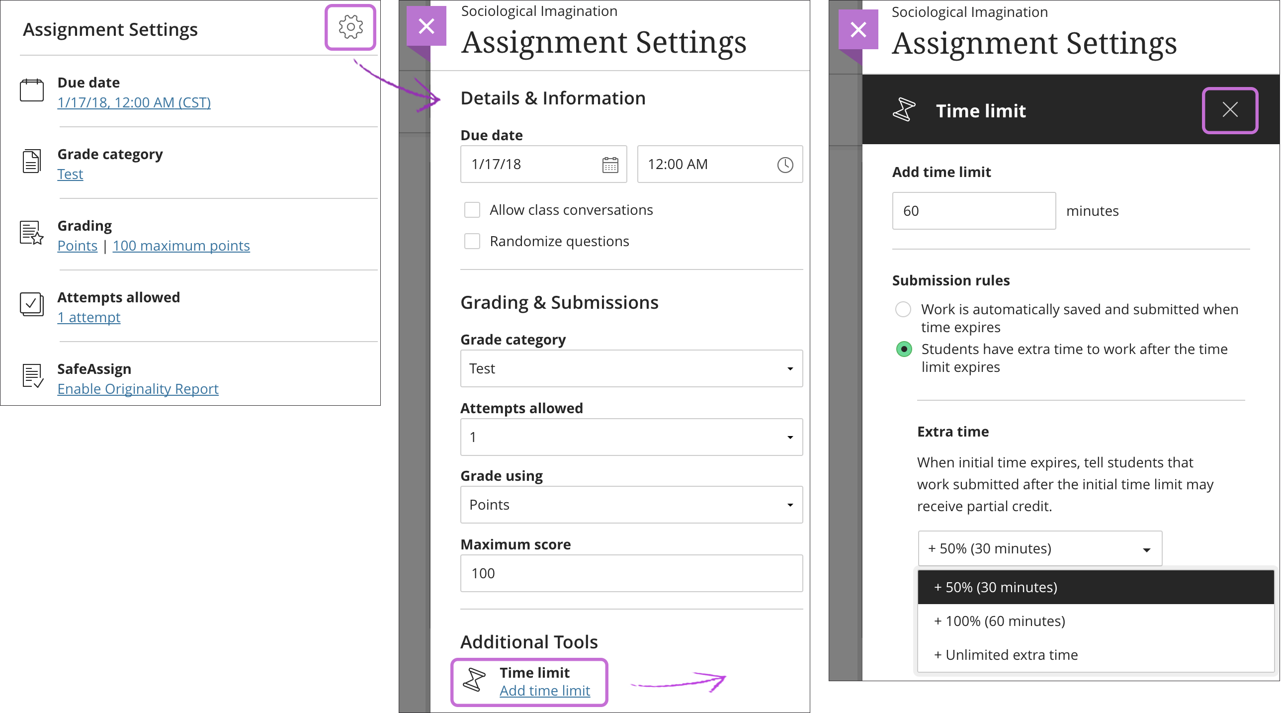 Create and Edit Assignments