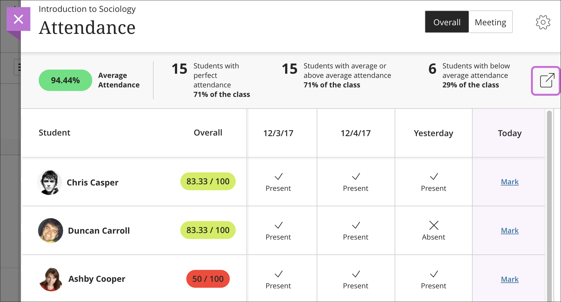 Attendance | Blackboard Help