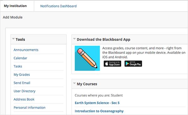 Blackboard App Module | Blackboard Help