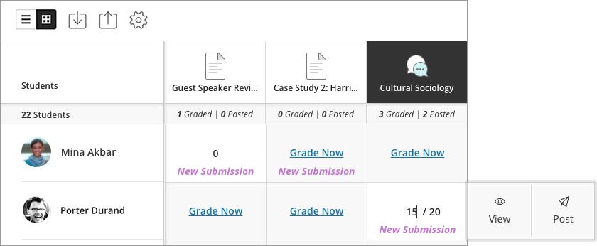 Grade Discussions | Blackboard Help