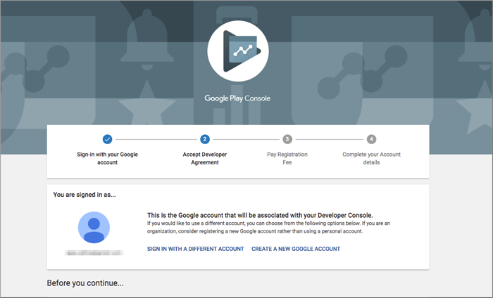 Google play console Getting Started Google