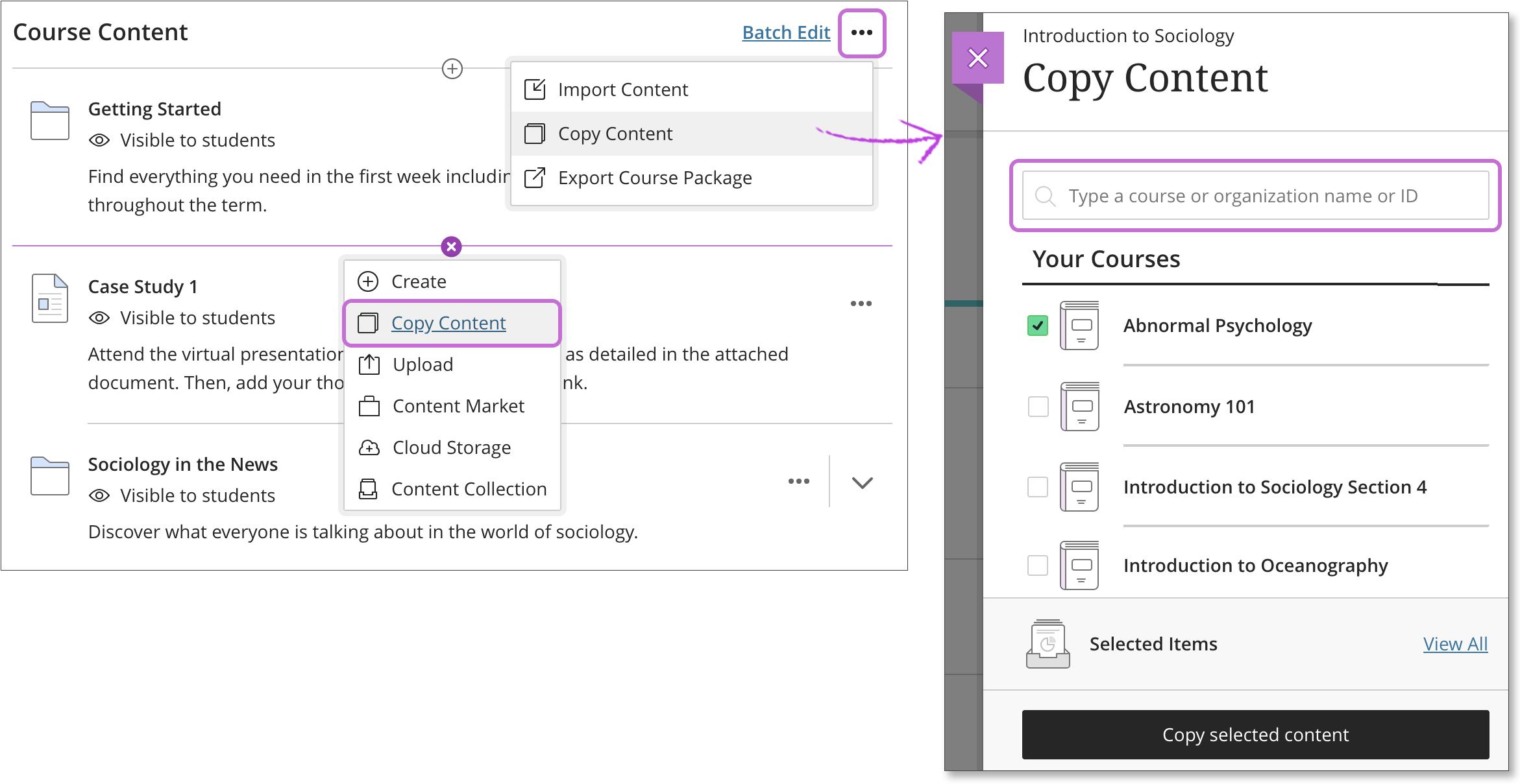 Copy Courses   Blackboard Help