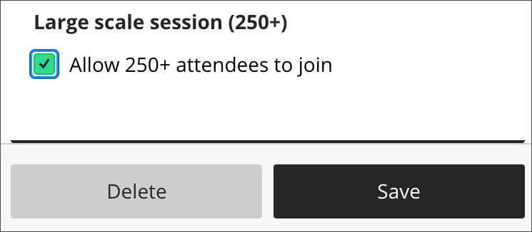 Large Scale session checkbox