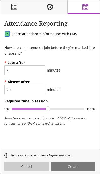 attendance reporting in Blackboard Collaborate